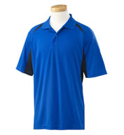 Custom Izod Mens Contrast Block Performance Dobby Polo