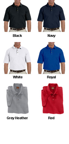 Mens Ringspun Cotton Pique Short-Sleeve Polo in Tall Sizes - All Colors