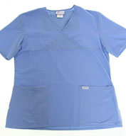 Ladies Mock Wrap Medical Scrub Top by Spectrum Uniforms
