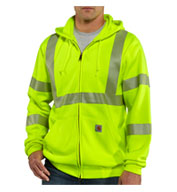 Custom Carhartt Men's ANSI 3 High-Visibility Zip-Front Sweatshirt