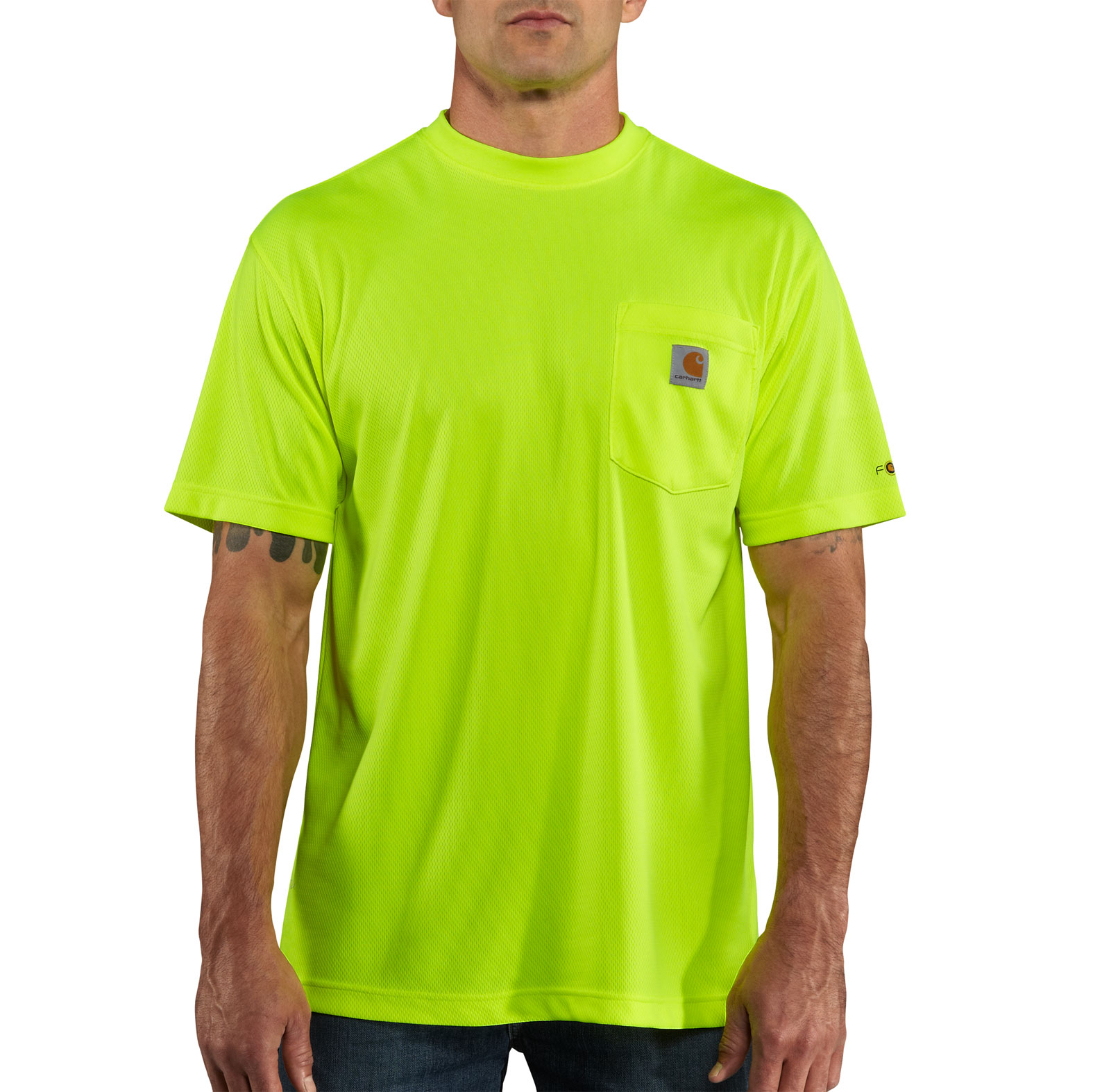 Mens Force� Color Enhanced HI Visibility Short Sleeve T-shirt from Carhartt