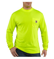 Custom Carhartt Mens Force™ Color Enhanced HI Visibility T-Shirt