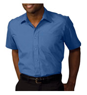 Custom Mens Security Broadcloth Value Short Sleeve Shirt Mens