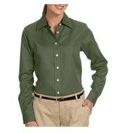 Womens Pima Cotton Twill Dress Shirt By Devon and Jones