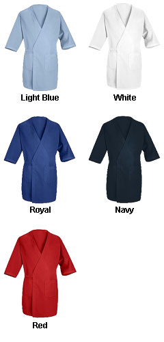 Collarless Butcher Wrap with 3/4 Sleeves - All Colors