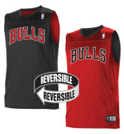 Custom Team NBA Chicago Bulls Adult Reversible Jersey