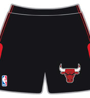 Custom Team NBA Chicago Bulls Adult Shorts