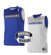 Custom Team NBA Golden State Warriors Youth Reversible Jersey