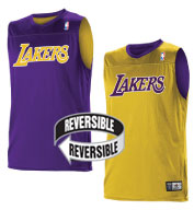 Custom Team NBA Los Angeles Lakers Youth Reversible Jersey