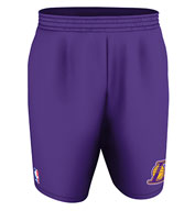 Custom Team NBA Los Angeles Lakers Adult Shorts