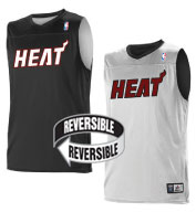 Custom Team NBA Miami Heat Adult Reversible Jersey