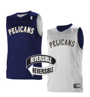 Custom Team NBA New Orleans Pelicans Youth Reversible Jersey