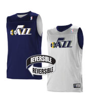 Custom Team NBA Utah Jazz Youth Reversible Jersey