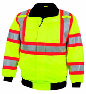Custom ANSI/ISEA Federal Highway Jacket with Hidden Hood Mens