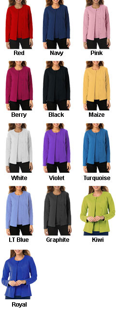 Ladies Long Sleeve Button Front Cardigan - All Colors