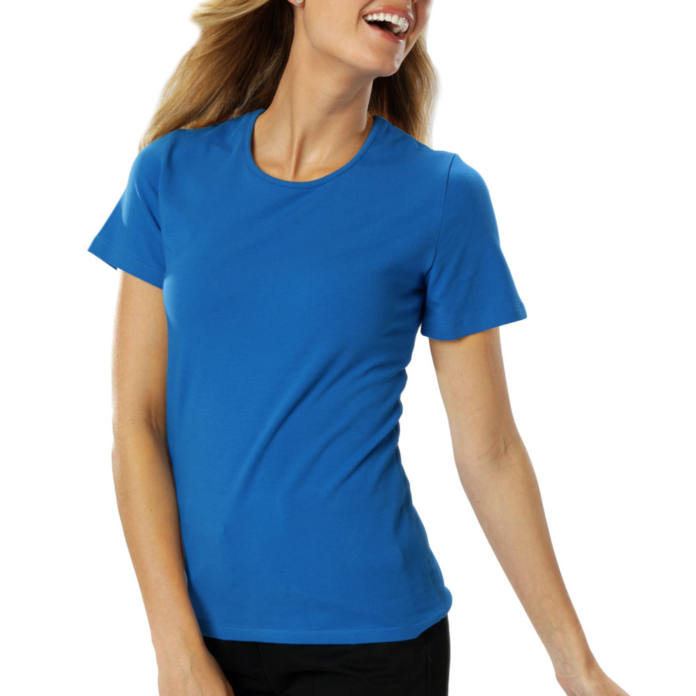 Ladies Short Sleeve Jewel Neck Tee
