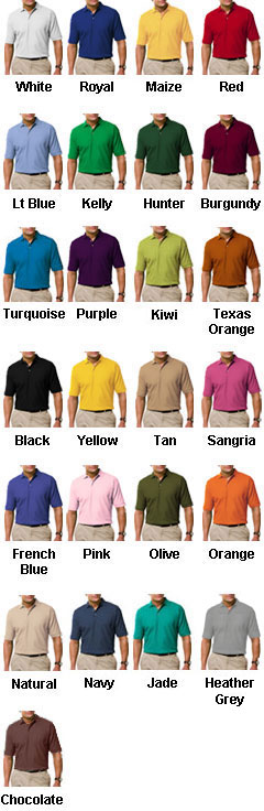 Mens Egyptian Ringspun Cotton Pique Polos - All Colors