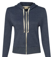 Custom Alternative Apparel Ladies  French Terry Hooded Full-Zip