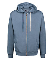 Retro Heather Zip Hoodie
