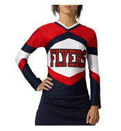 Custom Womens Shock Figure Fit Cheer Top