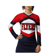 Custom Girls Shock Figure Fit Cheer Top
