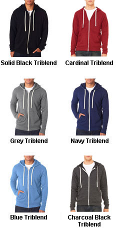Bella + Canvas Unisex Triblend Sponge Fleece Full-Zip Hoodie - All Colors