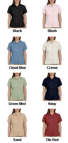 Harriton Ladies Bahama Cord Camp Shirt - All Colors