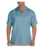 Harriton Mens Bahama Cord Camp Shirt