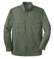 Custom Eddie Bauer® Long Sleeve Fishing Shirt