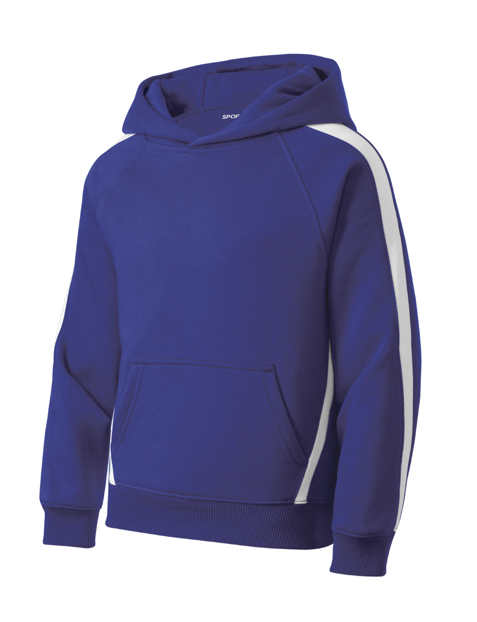 Sport-Tek� - Youth Sleeve Stripe Pullover Hooded Sweatshirt