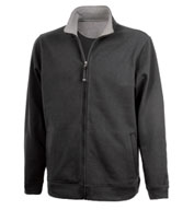 Custom Mens Onyx Full Zip Sweatshirt by Charles River Apparel Mens