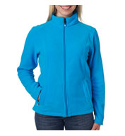Custom UltraClub Ladies Micro Fleece Full-Zip Jacket