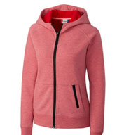 Custom Ladies Fleece Zip Up Hoodie