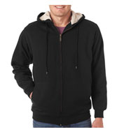 Heavyweight Adult Sherpa-Lined Full Zip Fleece with Hood