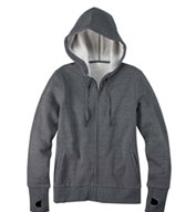 Custom Ladies Full-Zip Fleece Hoodie with Runner�s Thumb