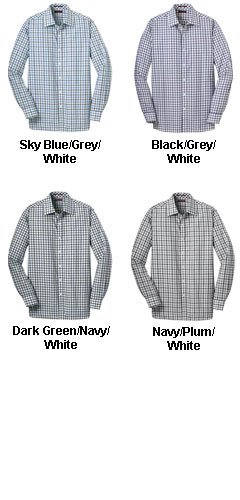 Red House® Mens Non-Iron Tricolor Check Shirt - All Colors