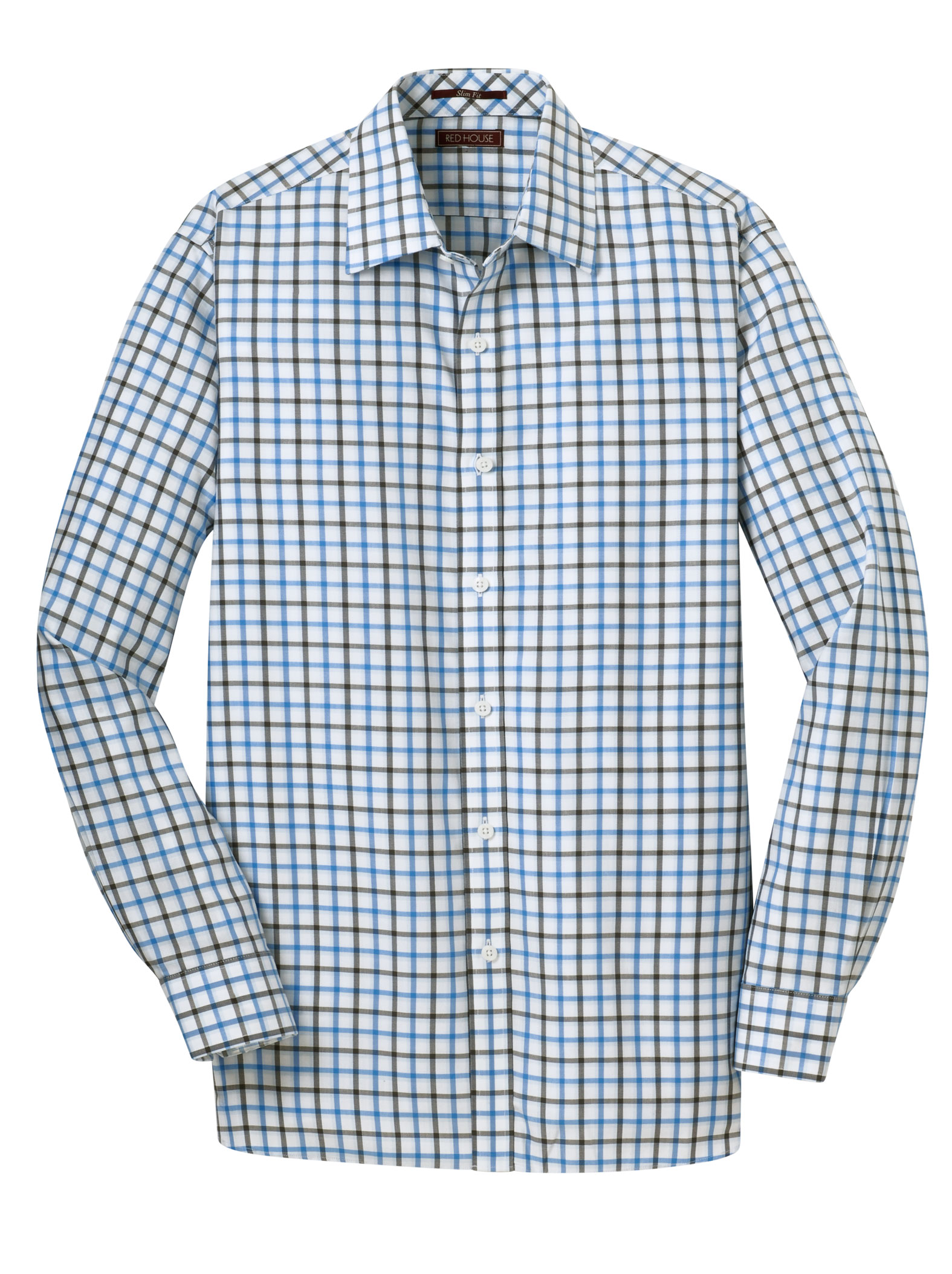 Red House® Mens Non-Iron Tricolor Check Shirt