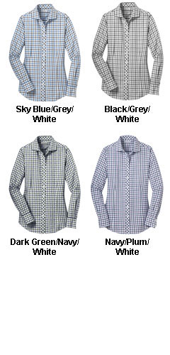 Red House® Ladies Non-Iron Tricolor Check Shirt - All Colors