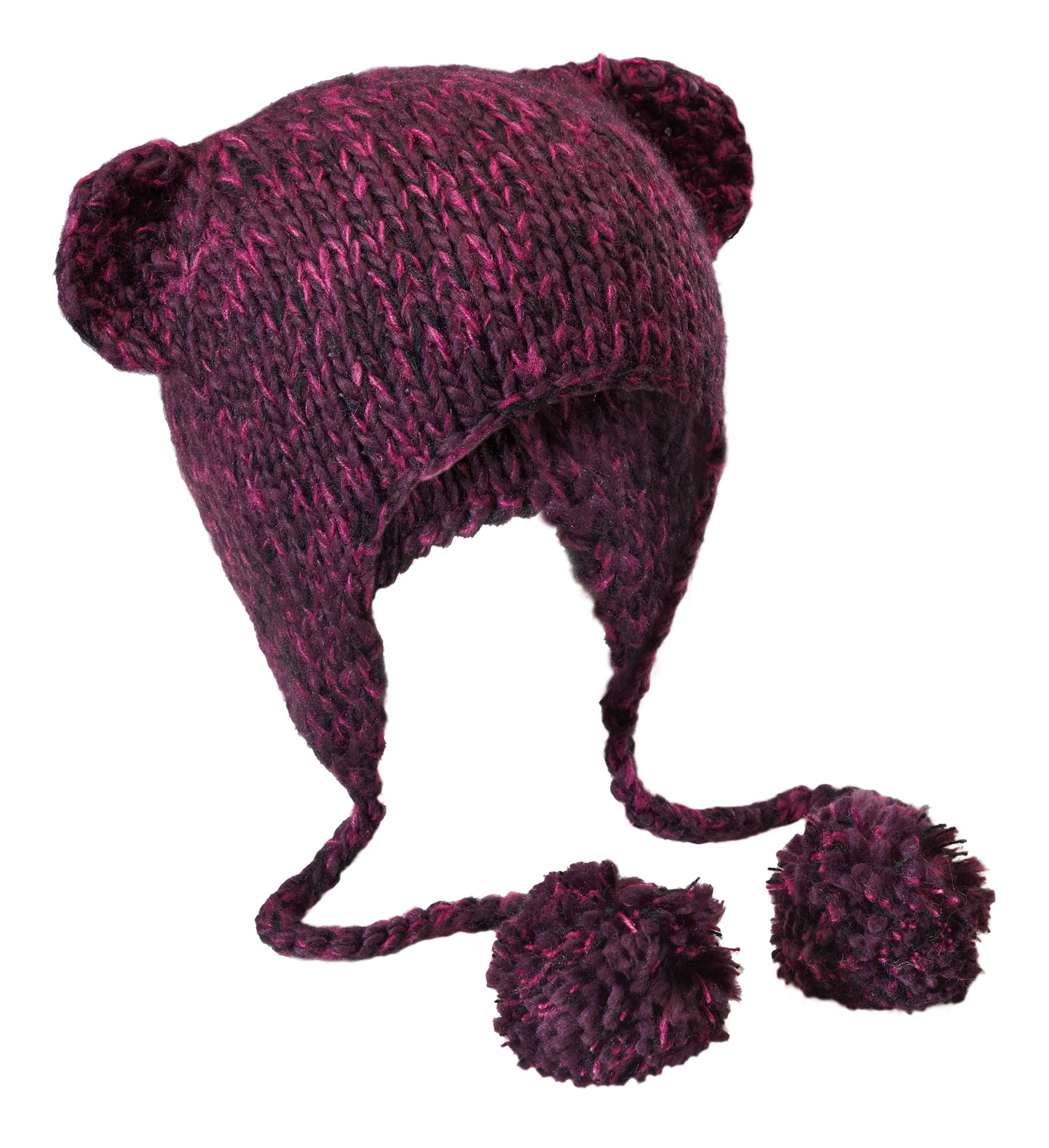 District� Hand Knit Cat-Eared Beanie