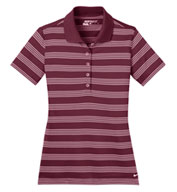 Ladies Nike Golf Dri-FIT Stripe Polo