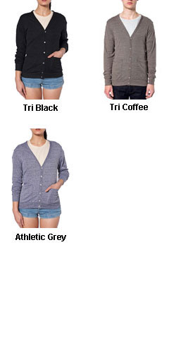 American Apparel Unisex Tri-Blend Cardigan - All Colors