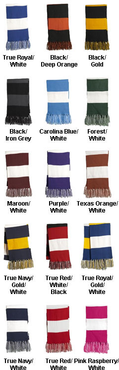 Sport-Tek� Spectator Scarf in Team Colors - All Colors