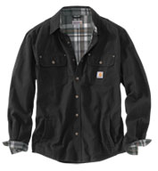 Custom Carhartt Weathered Canvas Shirt Jacket Mens