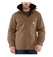 Custom Mens Quick Duck® Hooded Shirt Jacket Mens
