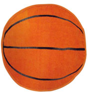 Custom Basketball Shaped Sports Towel