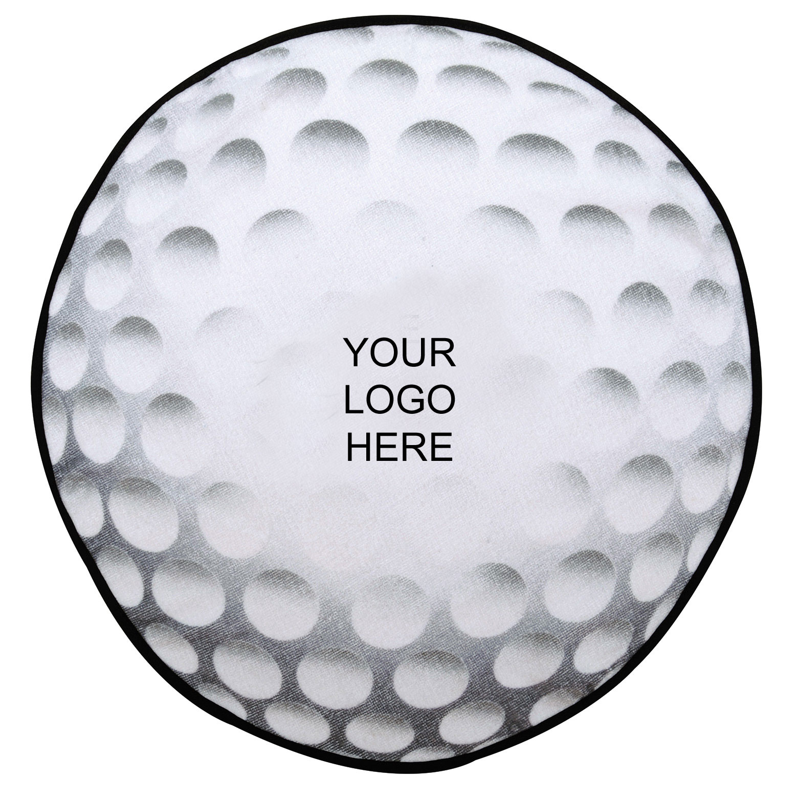 Golf Ball Shaped Towel with Hook and Grommet