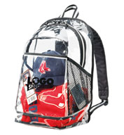 Custom Clear Zippered Backpack