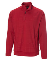 Mens Embossed Quarter Zip
