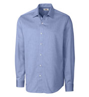 Custom Mens Easy Care Mini Herringbone Dress Shirt