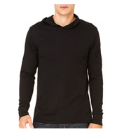 Mens Thermal Long Sleeve Henley Hoodie